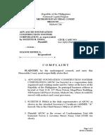 Sample Complaint. Unlawful Detainer. Activity 2