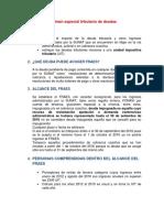REGIMEN TRIBUTARIO ESPECIAL DE DEUDAS