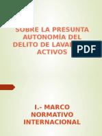 DELITO N°001-2019 LAVADO DE ACTIVOS. PENAL III - UNMSM