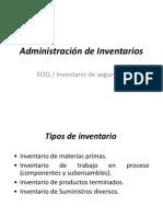 1. Administracion de Invetarios