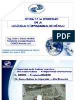 La Cultura de la Seguridad en la Logística Internacional de México 2010