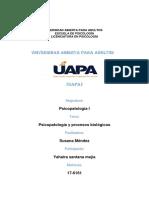 Tarea 3 de Psicopatologia