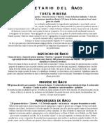 RECETARIO DEL ÑACO