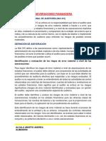 Aseveraciones Fiananciera (Andrea).