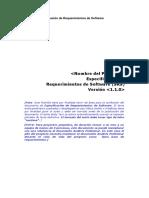 Plantilla Especificación de Requerimientos de Software