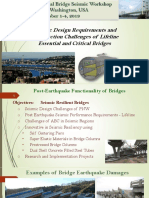 Seismic Design Requirements and Construction Challenges of Lifeline Essential and Critical Bridges