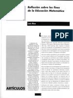 Rico Luis - Reflexion Sobre Los Fines de La Eduacion Matematica