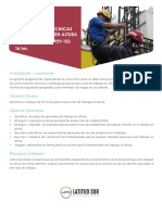 Curso. Identificación y Aplicación de Técnicas Para El Trabajo en Altura Cod. Sence_ Hrs. Antecedentes y Lineamientos