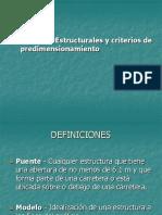 1. Sistemas Estructurales y Criterios de Predimensionamiento Puentes