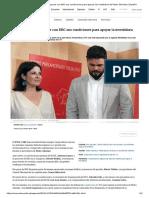 El PSOE Acepta Negociar Con ERC Sus Condiciones Para Apoyar La Investidura de Pedro Sánchez _ España