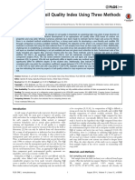 Comparison of Soil Quality Index Using Three Methods