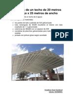 Proforma de Un Techo de 20 Metros de Largo x 25 Metros de Ancho