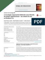 A tecnologia empresarial Odebrecht como filosofia de projeto organizacional – um estudo de caso na Braskem S.A.