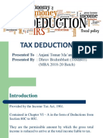 Income Tax Deductions.