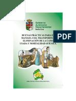Buenas prácticas para el manejo, uso, transporte y eliminación de la cama usada y mortalidad avícola
