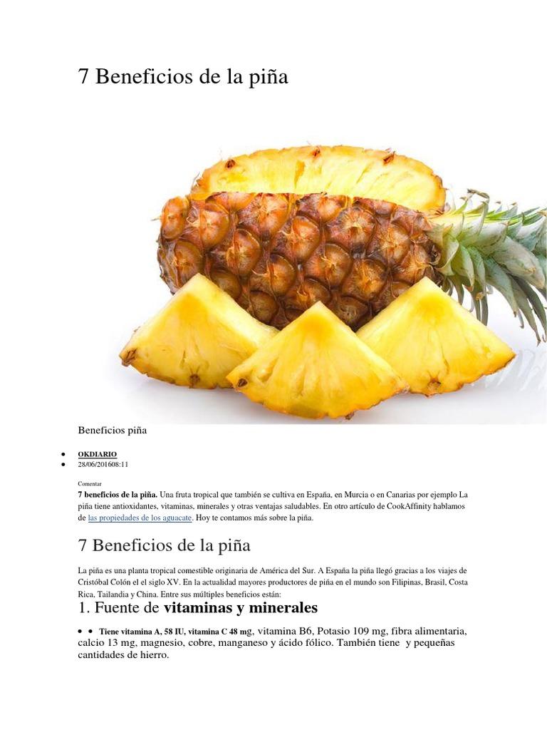 7 Beneficios De La Piña Piña Magnesio