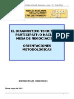 EL DIAGNOSTICO TER ITORIAL PARTICIPATIVO HACIA LA MESA DE NEGOCIACION ORIENTACIONES METODOLOGICAS