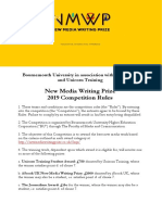 Terms and Conditions for New Media Writing Prize 2019