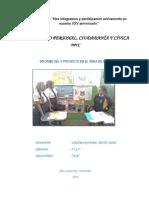 Informe de Proyecto de Desarrollo Personal, Ciudadanía y Cívica