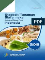 Statistik Tanaman Biofarmaka Indonesia 2018
