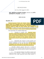 A.C. No. 7434 _ Spouses Tejada v. Palaña