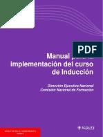 Manual para la implementación del curso de inducción