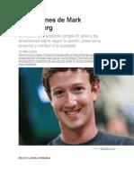 10 Lecciones de Mark Zuckerberg