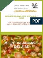 microorganismos del agua suelo aire