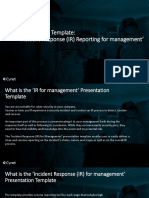 Presentation Template IR for Management