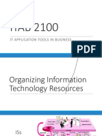 ITAB2100 - Ch 6-Organizing Information Technology Resources