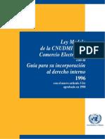 Ley Modelo de La Cnudmi Sobre Comercio Electronico
