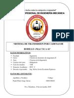 Sistema de transmisión por cadenas de rodillo -Practica N° 03
