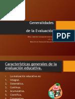 generalidades de la evaluacion