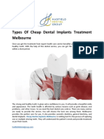 Types of Cheap Dental Implants Treatment Melbourne