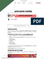 Subir Proyecto Laravel a Hosting