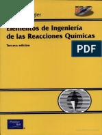 Elementos de Ingeniería de las Reacciones Químicas 3° Edición - Fogler