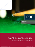 Coefficient of Restitution