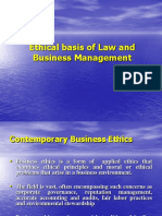 The Ehtical Basis of Law and Business Management