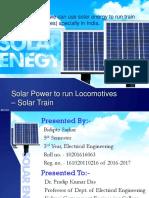Seminar on solar train