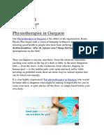 Physiotherapist in Gurgaon