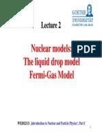 A2 Nuclear Models LiqDrop FermiGas
