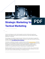 Strategic Marketing Vs Marketing.docx