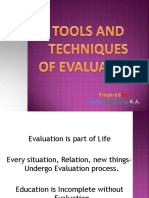 Tools n Techniques of Evaluation