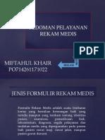 Pedoman Pelayanan Rekam Medis