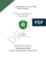 Format Laporan Praktik Kerja Lapangan