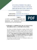 TAREA 1. Auditoria Financiera II