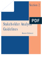 Stakeholders Analysis Guidelines