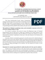 Position Paper of the Archdiocese of Lipa
