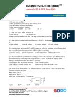 Sample Paper 1 Electronics Engineering