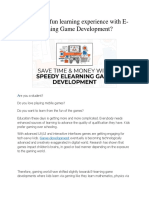 Fun Learning With E-Learning Game Development